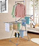 Easy to Use Adjustable Height/Angle Tall Folding Collapsible Stainless Steel Clothes Laundry Hangers Drying Rack - Home Laundry Organization Essentials