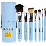 Kissemoji Professional 7 Pcs Synthetic Kabuki Makeup Brush Set Cosmetics Foundation Blending Blush Eyeliner Face...