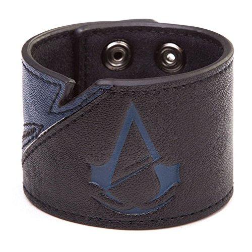 Bioworld - Assassins Creed Unity - Bracelet Bleu / Noir - Logo Unity - 8718526041415