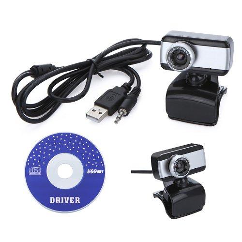 Docooler USB 2.0 50.0M HD Webcam Camera Web Cam With MIC For Computer Desktop PC Laptop Silver Silver