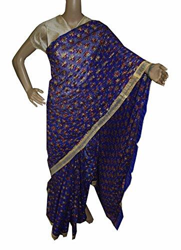 Beautiful RUDA Designer Phulkari Embroidered Saree-JS1096
