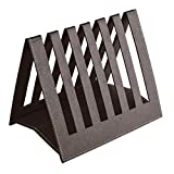 Eco friendly Ecoleatherette Handcrafted Magazine Holder, Magaizne Rack Newspaper Holder Newspaper Rack Table Top (Chocolate)