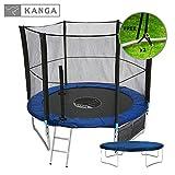 Kanga 8ft Premium Trampoline with Safety Enclosure, Net, Ladder, Anchor Kit, Shoe Bag & Winter Cover (8ft)