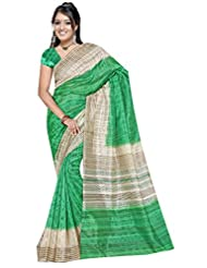 Winza Art Bhagalpuri Silk Party Wear Print Saree For Ladies & Women (independence Day Special Offer)