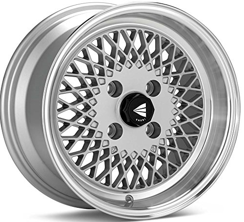 15×7 Enkei ENKEI92 (Silver w/ Machined Lip) Wheels/Rims 4×100 (465-570-4938SP)