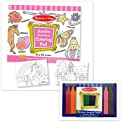 Melissa & Doug Pink Coloring Pad With Jumbo Triangular Crayons Set Of 2 Items