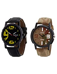 Relish Black Analog Round Casual Wear Watches For Men - B019T7LM42
