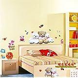 Generic DIY Love Cute Teddy Bears Wall Stickers Vinyl Decals Art Home Decor