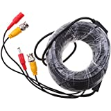 Segolike BNC Video And Power Cable Wire Cord With Connector For HD CCTV Security Camera 15m