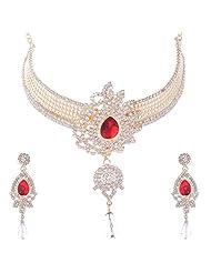 Nimble Golden Metal Choker Necklace Set For Women - B00XVMLV9S