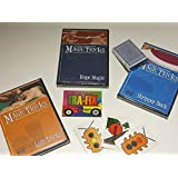 Amazing Easy To Learn Magic Tricks: Coin Magic Dvd, Rope Magic Dvd, Pro Brand Bridge Size Stripper Deck With Dvd...