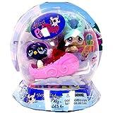 Littlest Pet Shop Exclusive Chilliest Pet Pair Slope Ridin Pets (Chinchilla And Penguin)