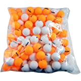 Franklin Sports 1 Star Table Tennis Balls (144 Count), White/Orange, 40mm
