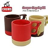 CHUMS チャムス マグカップ Camper Mag Cup II CH62-0149 マグ カップ コップ プラスティック (メンズ レディース) 正規取扱品 (5.Red/Beige (5128))