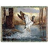 Jump Start Mallard Duck Tapestry Throw Blanket 70 X 50