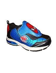 Marvel Boys Spiderman Lighted Blue Red White Shoe Sneaker