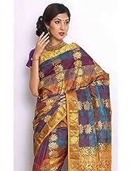 Sudarsahan Silks Pure Silk Kanjeevaram Hand Woven Saree - B00NBKW0XG
