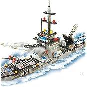 Otulet Destroyer Ship Military Building Bricks Blocks Set Children Educational Puzzle Intelligent Toys Gift 388pcs