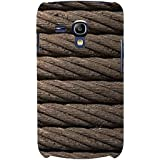 For Samsung Galaxy S3 Mini I8190 :: Samsung I8190 Galaxy S III Mini :: Samsung I8190N Galaxy S III Mini Brown Rope ( Brown Rope, Rope, Rope Pattern ) Printed Designer Back Case Cover By FashionCops