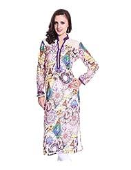 Grace Designs Women's Printed Kurti (GD-CP4_Purple White_Medium)