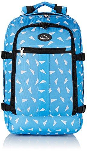 Cabin Max Metz - Sac à dos et bagage à mains pour cabine léger et certifié conforme - 44L 55 x 40 x 20 cm (Avions en Papier)