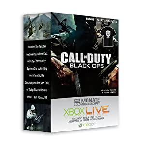 X-Box-Live 12 Monate Abo MS Call of Duty Design + CoD T-Shirt