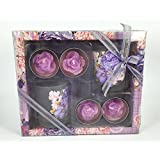 Candle Gift Set With 2 Glass Stand