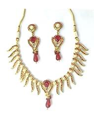 RCJ Gold Brass Necklace Set For Women - B00XN84MPA