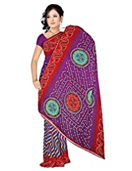 Anand Sarees Faux Georgette Synthetic Print Saree - B013X04PDQ