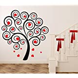 Decal Style Heart Valentine's Tree Wall Sticker Small Size-13*14 Inch