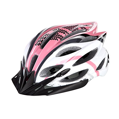 Bicycle Helmet Mtb/Road Bike Helmets Cycling Mountain Racing, Men Women Keep Safety, Adult Child Kids, with 22 Vents Adjustable Ultralight Integrally-molded Pink