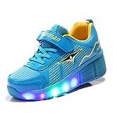 TeraSeven Unisex LED light Heelys shoes child single boy and girl adult rolls Kids Adjustable Skates and Rollerblades Inline Skates