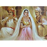 """Dolls Of India """"Courtesan And Two Musicians"""" Reprint On Paper - Unframed (41.91 X 31.75 Centimeters)"""