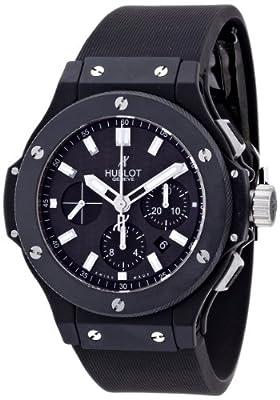 [ウブロ]HUBLOT 腕時計 ビッグバン44mmブラックマジックエボリューション カーボンブラック文字盤 セラミックケース ラバーベルト 自動巻 100M防水 301.CI.1770.RX メンズ 【並行輸入品】