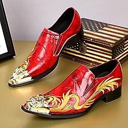 Scarpe uomo Amir Limited Edition puro matrimonio fatti a mano/Party & sera in pelle rosso Oxfords