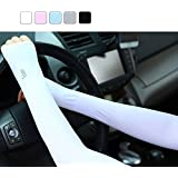 2 Pairs Of Tuban Ice Cooling Sleeves UV Protective Compression Arm Sleeves For Driving/ Hiking / Golf / Cycling...