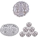 GS MUSEUM Silver Plated Rani Kumkum Plate, Silver Plated Oval Kumkum Plate And Silver Plated Set Of 6 Lotus Incense...