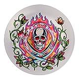 Ed Hardy Candle Glass Mushroom Tealight Holder Skull 13