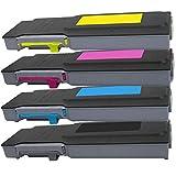 4 Inktoneram Replacement Toner Cartridges For Dell C2660dn / C2665dnf Toner Cartridges BK/C/M/Y Replacement For...