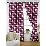 Story @ Home Nature Designer Eyelet Door Curtain-Set Of 2 - B00RLKLIX0