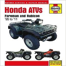 2007 honda recon 500 atv owners manual