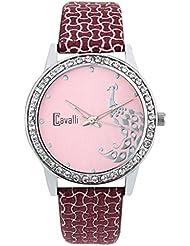 Cavalli Pink Dial Analog Watch- For Women - B01KVCOW14