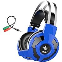 Yobo A6 Over-ear Stereo Mega Bass Noise Cancelling Headset With Microphone For PC And Notebook Black Silver Blue