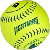 DeMarini Lightning USSSA Men's Classis M Series Slowpitch Synthetic Leather Softball (12-Pack), 12-Inch, Optic...