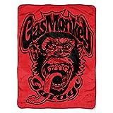 Gas Monkey Garage Red Monkey Logo Micro Raschel Throw by The Northwest Company, 46 by 60