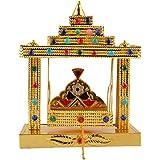 The Krishna Worship House Aluminium Krishna Jhula (6 Cm X 6 Cm X 8 Cm , Golden)