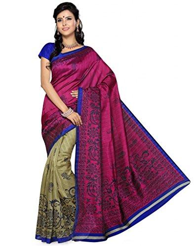 Deepika Saree Art Silk Saree With Blouse - B00PVXQKSM