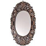 Onlineshoppee Wooden Antique With Handicraft Work Fancy Design Mirror Frame Size(LxBxH-21x1x20) Inch