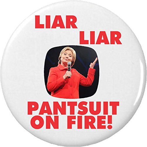 Trump and Clinton Halloween Costumes - Choose Edgy or Funny - Liar Liar Pantsuit on Fire! Anti Against Hillary Clinton 2.25
