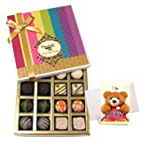 Yummy Collection Of White And Dark Chocolate Box With Sorry Card - Chocholik Belgium Chocolates